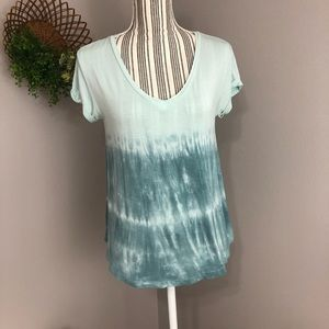 AE Soft & Sexy Xs ombré teal stretchy short sleeve